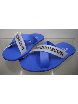 Ciabatta mare bimbo slippers boy BIKKEMBERGS a.SA68 W70 T.30 col.3300 azzurro