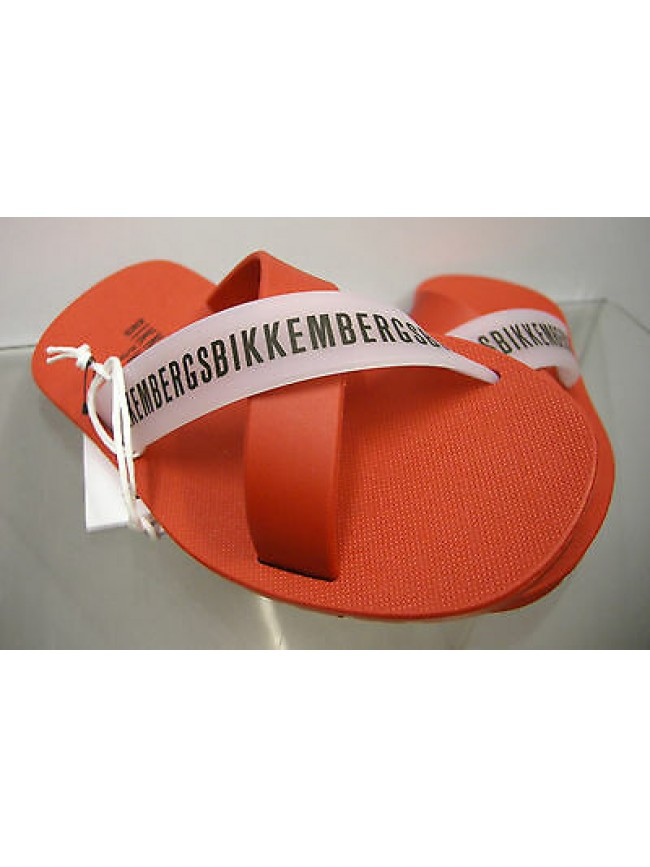 Ciabatta mare bimbo slippers boy BIKKEMBERGS a.SA68 W70 T.33 c.4000 rosso red