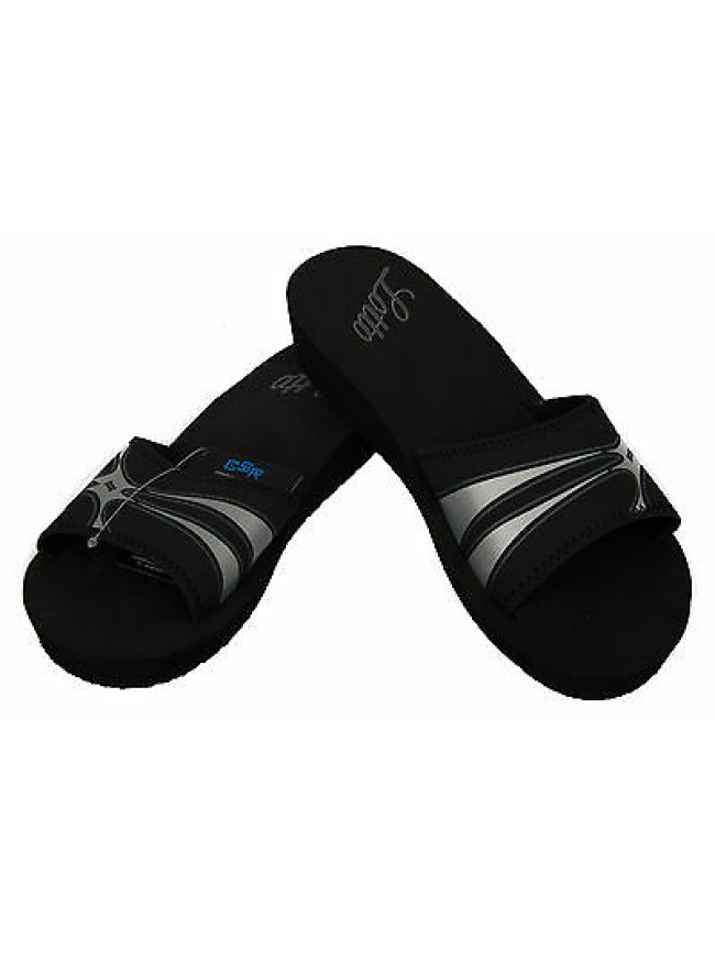 Ciabatta mare donna slippers LOTTO art. N9667 taglia 40 colore BLACK SILVER