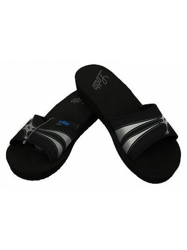 Ciabatta mare donna slippers LOTTO art. N9667 taglia 41 colore BLACK SILVER