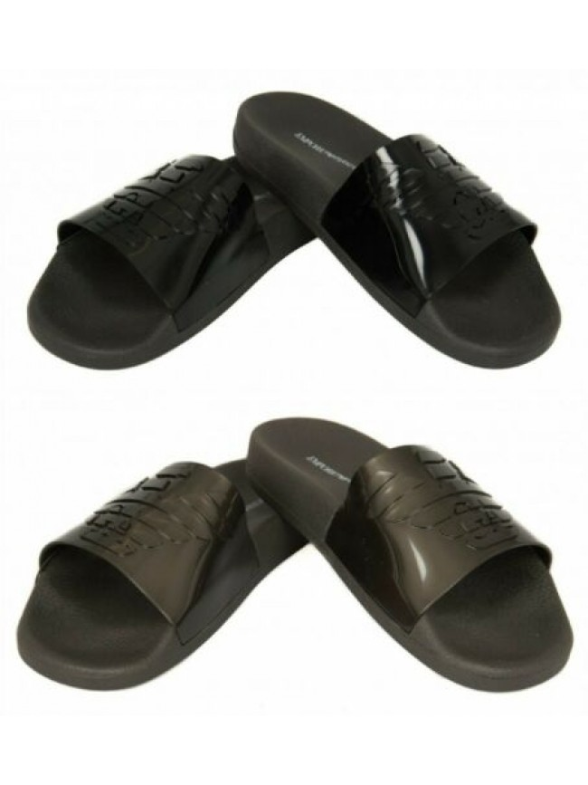Ciabatte slippers uomo mare piscina beachwear EMPORIO ARMANI articolo X4PS02 XL8