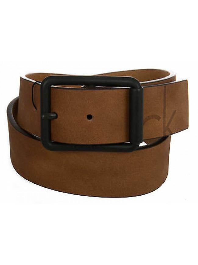 Cintura pelle uomo CK CALVIN KLEIN JEANS K50K500965 taglia 80 c.223 COGNAC