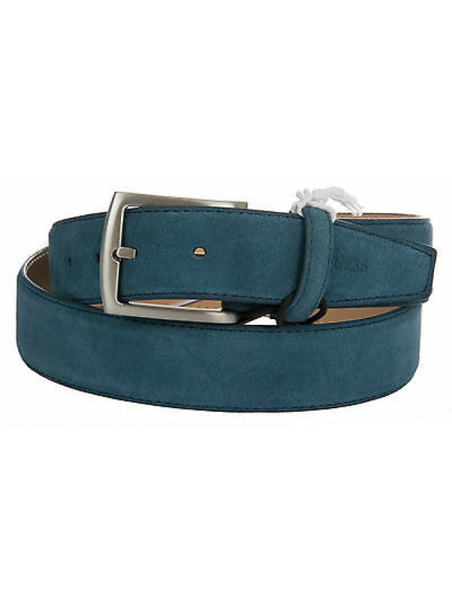 Cintura uomo pelle belt GUESS art.BM5005 taglia M/95 colore DENIM