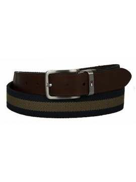 Cintura uomo pelle belt TOMMY HILFIGER a. AM0AM00873 taglia 115 c. 902 MID OLIVE