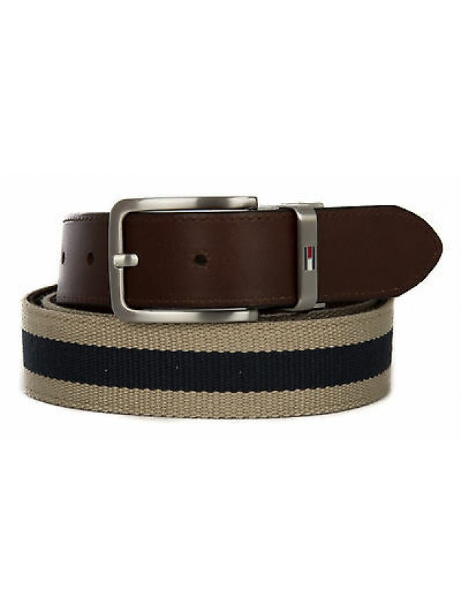 Cintura uomo pelle belt TOMMY HILFIGER a. AM0AM00873 taglia 115 c. 910 TWILL MID