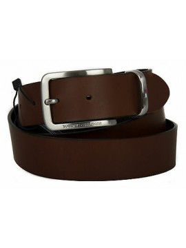 Cintura uomo pelle belt TOMMY HILFIGER a. AM0AM01304 taglia 115 col. 204 DARK TA