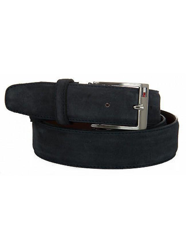 Cintura uomo pelle belt TOMMY HILFIGER a. AM0AM01305 taglia 115 c. 001 MIDNIGHT