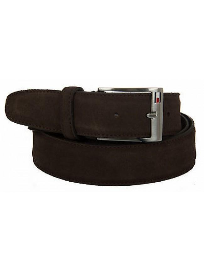Cintura uomo pelle belt TOMMY HILFIGER a. AM0AM01305 taglia 115 col. 041 MARRONE