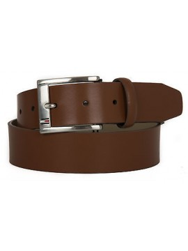 Cintura uomo pelle belt TOMMY HILFIGER a. AM0AM01666 taglia 115 c. 247 DARK TAN