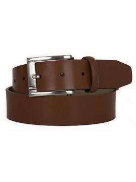 Cintura uomo pelle belt TOMMY HILFIGER a. AM0AM01666 taglia 95 c. 247 DARK TAN