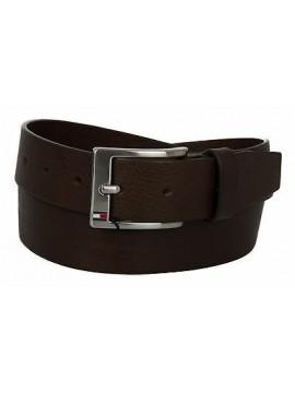 Cintura uomo pelle belt TOMMY HILFIGER art. AM0AM01002 taglia 110 col. 902 MORO