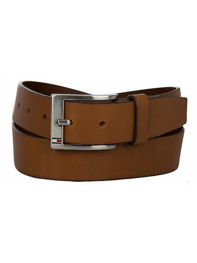 Cintura uomo pelle belt TOMMY HILFIGER art. AM0AM01002 taglia 110 col. 910 TAN