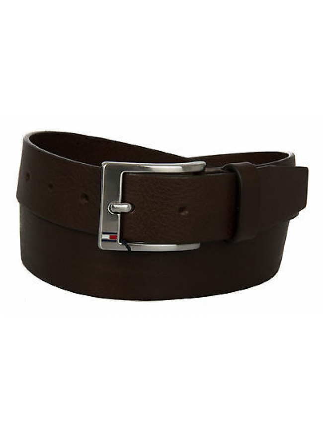 Cintura uomo pelle belt TOMMY HILFIGER art. AM0AM01002 taglia 115 col. 902 MORO