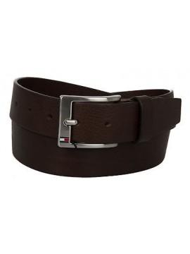 Cintura uomo pelle belt TOMMY HILFIGER art. AM0AM01002 taglia 95 col. 902 MORO