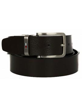 Cintura uomo pelle belt TOMMY HILFIGER art. AM0AM01303 taglia 115 col. 901 NERO