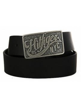 Cintura uomo pelle belt TOMMY HILFIGER art. AM0AM01309 taglia 100 col. 002 NERO