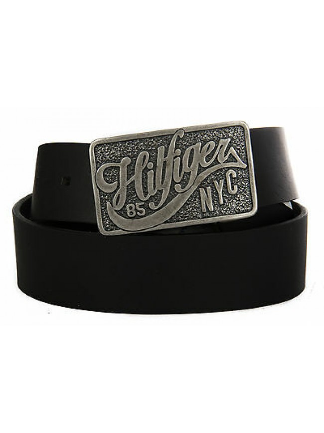 Cintura uomo pelle belt TOMMY HILFIGER art. AM0AM01309 taglia 85 col. 002 NERO