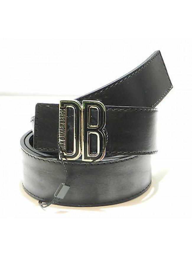 Cintura uomo pelle belt man DIRK BIKKEMBERGS a.DBCFO069 T.100 c.nero black Italy