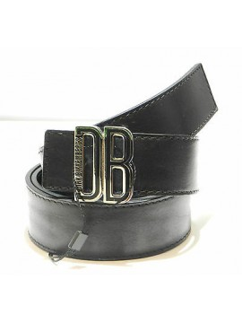 Cintura uomo pelle belt man DIRK BIKKEMBERGS a.DBCFO069 T.110 c.nero black Italy