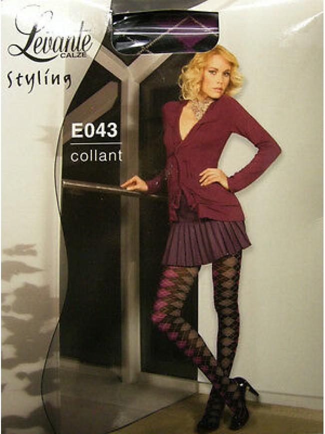 Collant calza donna woman LEVANTE articolo E043 taglia 3/4 colore NERO - 80 DEN