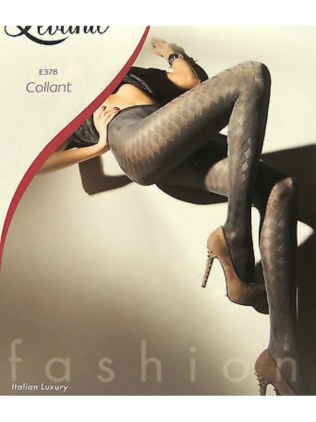Collant calza moda fashion comfort LEVANTE E378 T.1/2 c.piombo rombi 50 D Italy