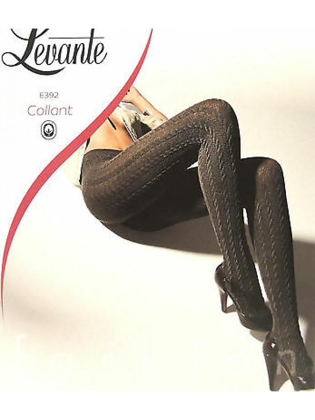 Collant calza moda fashion soft comfort LEVANTE a.E392 T.3/4 c.nero black Italy