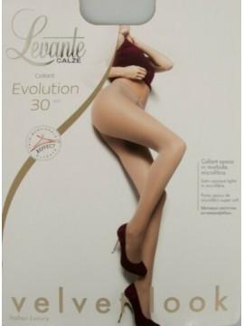 Collant calze donna 30 den 33 dtex coprente microfibra LEVANTE articolo EVOLUTIO