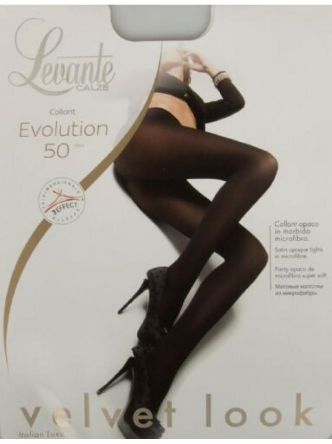 Collant calze donna 50 den 55 dtex coprente microfibra LEVANTE articolo EVOLUTIO
