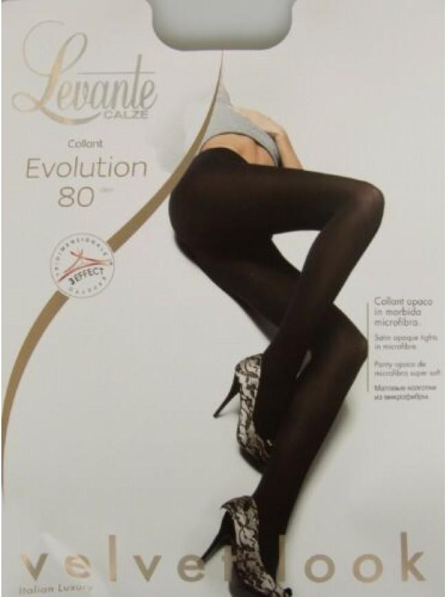 Collant calze donna 80 den 88 dtex opaco coprente microfibra LEVANTE articolo EV