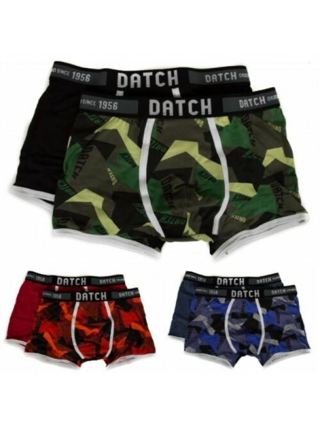 Confezione 2 boxer uomo bipack parigamba underwear DATCH articolo DM0034 STAMPA