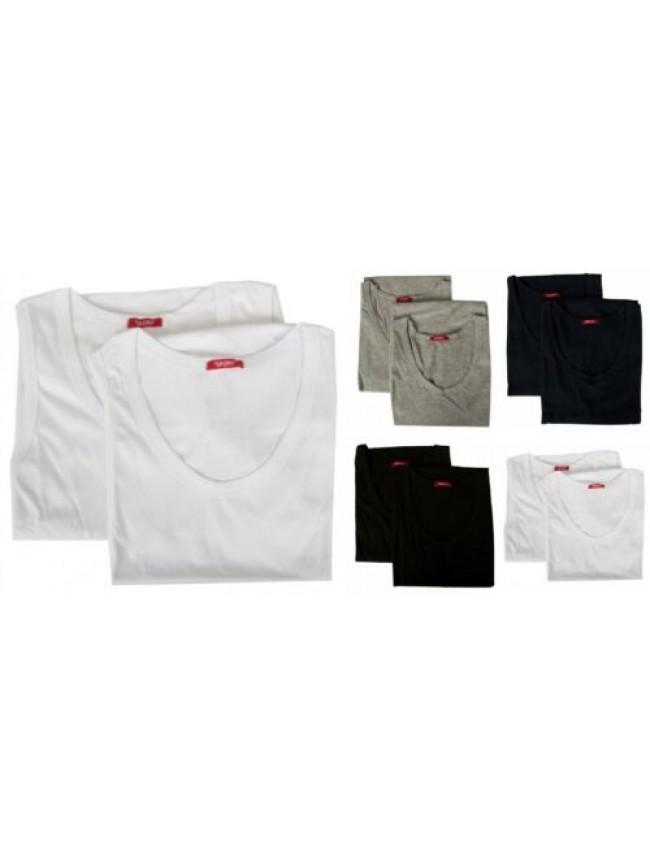 Confezione 2 canottiere uomo cotone spalla larga bipack RAGNO SPORT articolo 601