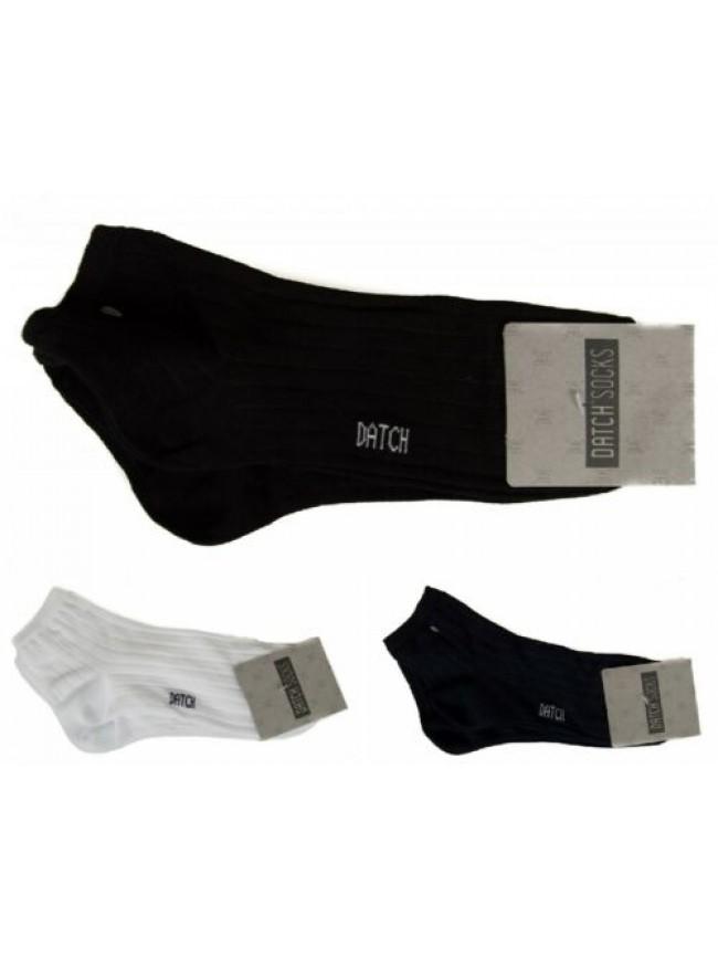 Confezione 2 paia calze corte quarter con costina unisex cotone bipack DATCH art