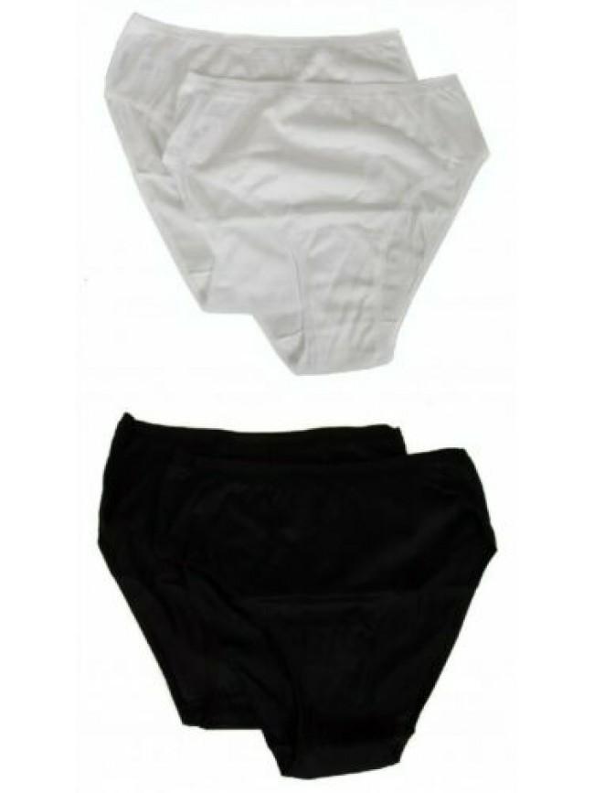 Confezione 2 slip alto donna filo di scozia bordato liscio mutande bipack RAGNO