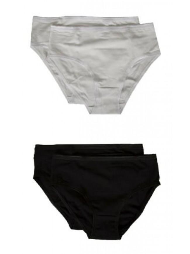 Confezione 2 slip donna cotone bielastico bipack NOTTINGHAM articolo MIDI3403 SL