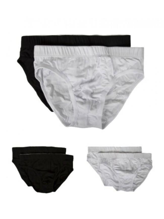 Confezione 2 slip uomo bi-pack medio cotone bielastico PEROFIL articolo VPRT0031
