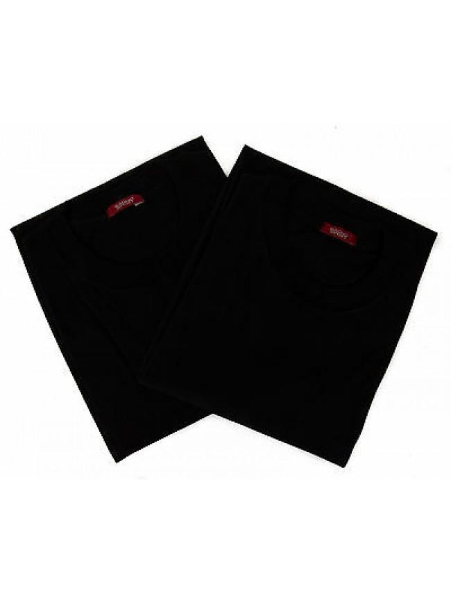 Confezione 2 t-shirt bipack girocollo uomo RAGNO 065415 taglia XL col. 020 NERO