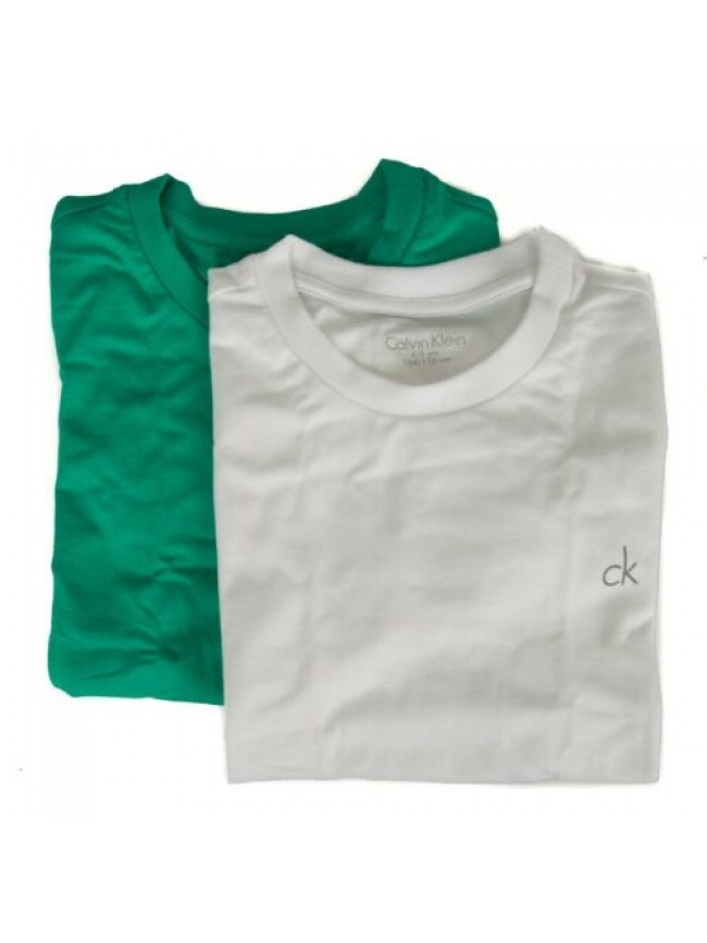 Confezione 2 t-shirt manica corta girocollo bimbo maschio CK CALVIN KLEIN B70B70