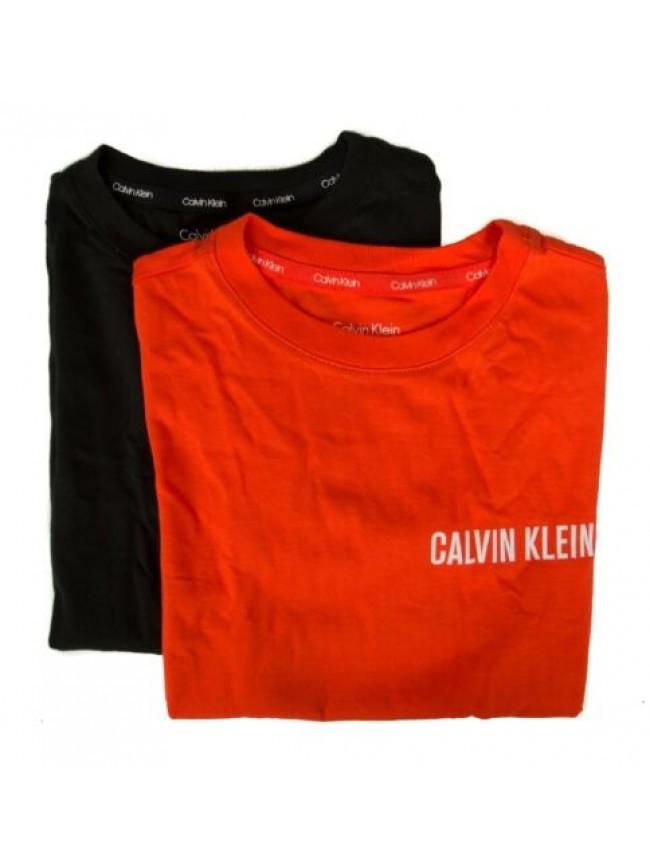 Confezione 2 t-shirt manica corta girocollo bimbo ragazzo bipack underwear CK CA