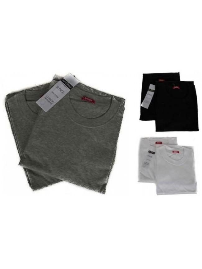 Confezione 2 t-shirt uomo cotone manica corta girocollo RAGNO SPORT art.601415