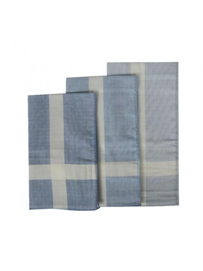Confezione 3 fazzoletti in stoffa puro cotone cm.45x45 PEROFIL articolo P338