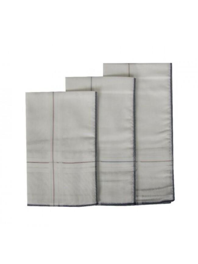Confezione 3 fazzoletti in stoffa puro cotone cm.45x45 PEROFIL articolo P346