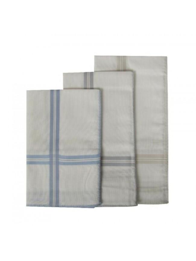 Confezione 3 fazzoletti in stoffa puro cotone cm.45x45 PEROFIL articolo P347