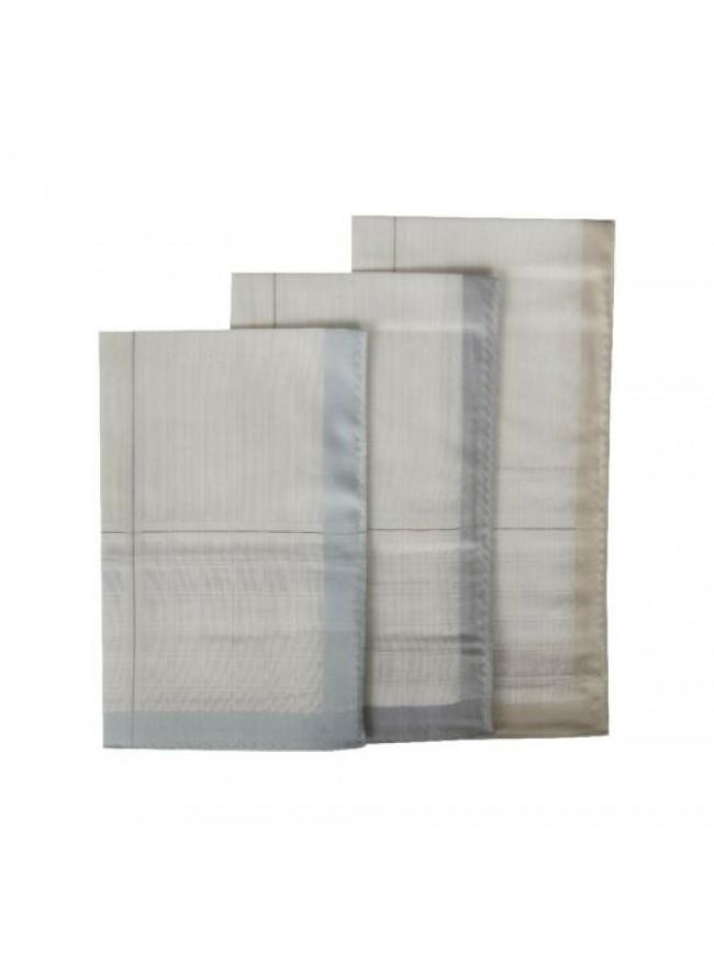 Confezione 3 fazzoletti in stoffa puro cotone cm.45x45 PEROFIL articolo P350