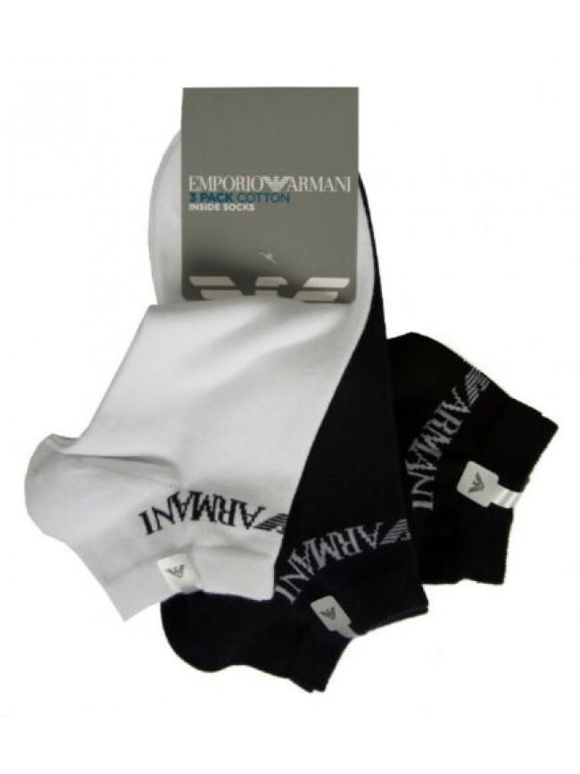 Confezione 3 paia calze calzino fantasmino inside uomo cotone EMPORIO ARMANI art