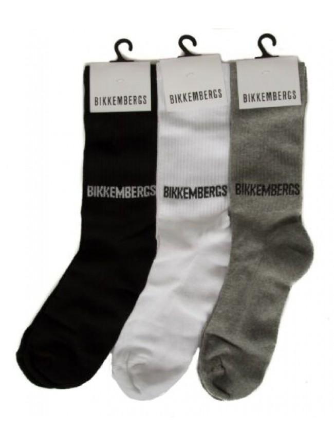 Confezione 3 paia calze corte uomo set regalo calzini tripack BIKKEMBERGS artico