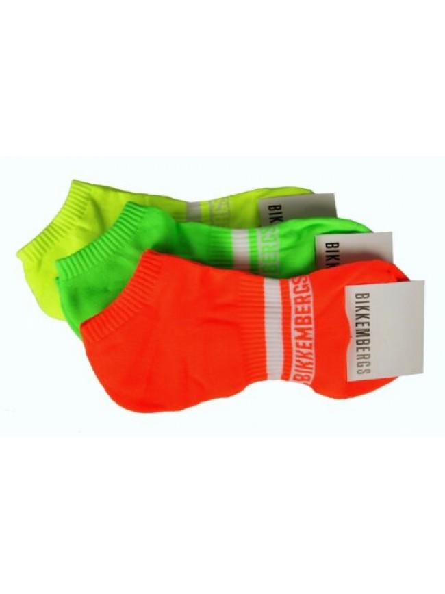 Confezione 3 paia calze sneakers uomo set calzini tripack BIKKEMBERGS articolo V