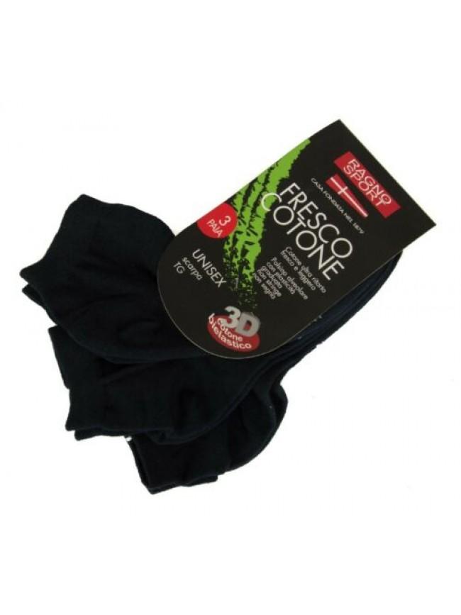 Confezione 3 paia di calze unisex calzino calzini girocaviglia fresco cotone tri