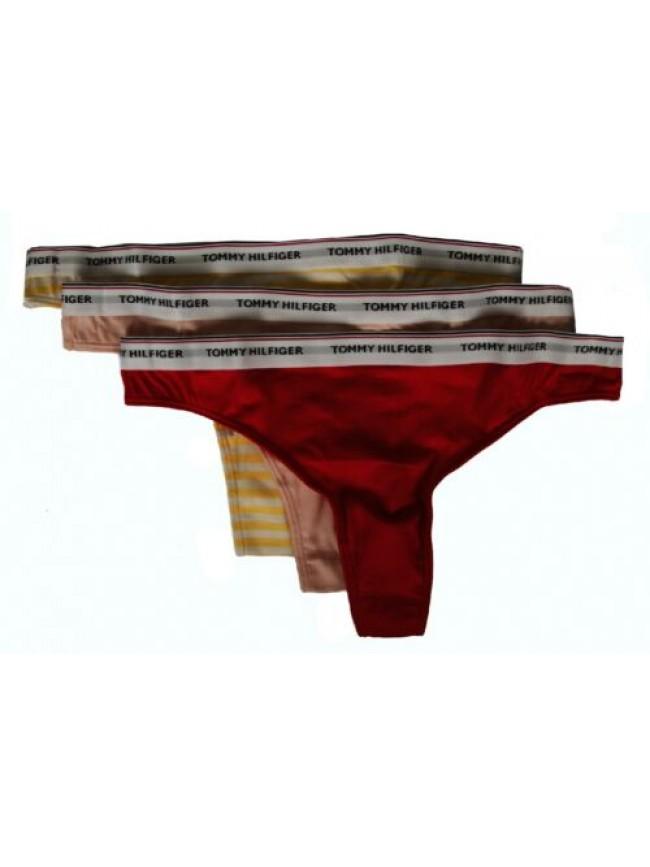 Confezione 3 slip perizoma donna mutande tripack underwear TOMMY HILFIGER artico