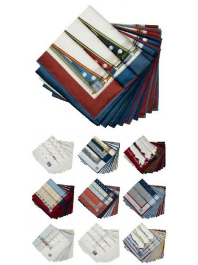 Confezione scatola 12 fazzoletti cm.50x50 PEROFIL articolo VPRT00284-03