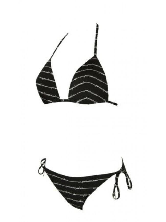 Costume bikini donna mare con ferretto coppe imbottite e slip regolabile EMPORIO